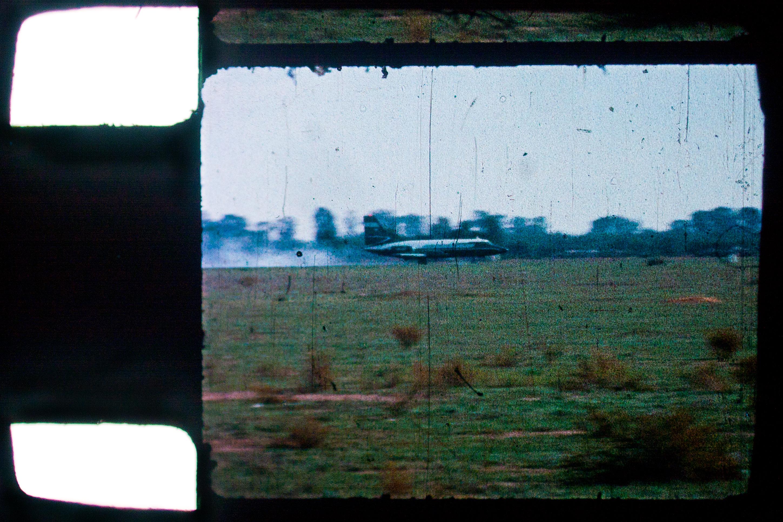 Dirty old 8mm plane landing
